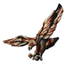 FLYING EAGLE MOTIF IRON ON EMBROIDERED PATCH APPLIQUE